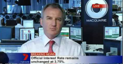 Macquarie banker caught admiring Miranda Kerr on live TV