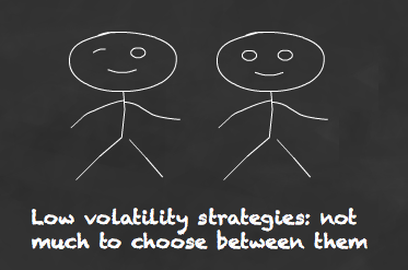 Low volatility strategies are broadly similar