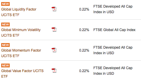 Vanguard's four new factor ETFs are already listed on its website.