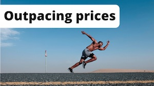 Beating inflation means outpacing prices, as illustrated by an image of a track athlete.